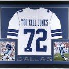 Ed Too Tall Jones Autographed Signed Dallas Cowboys Framed Jersey JSA
