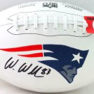 Wes Welker Autographed Signed New England Patriots Logo Football BECKETT