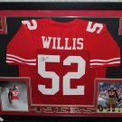 Patrick Willis Autographed Signed Framed San Francisco 49ers Jersey BECKETT
