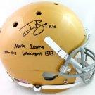 Ian Book Autographed Signed Notre Dame FS Helmet BECKETT
