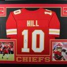 Tyreek Hill Signed Autographed Framed Kansas City Chiefs Jersey JSA