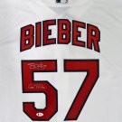 Shane Bieber Signed Autographed Cleveland Indians Majestic Jersey BECKETT