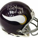 Ron Yary Signed Autographed Minnesota Vikings Mini Helmet SCHWARTZ