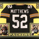 Clay Matthews Signed Autographed Framed Green Bay Packers Jersey RADTKE