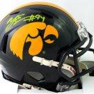 AJ Epenesa Autographed Signed Iowa Hawkeyes Mini Helmet BECKETT