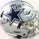Prescott Elliott Cooper Signed Autographed Dallas Cowboys Proline FS Helmet BECKETT