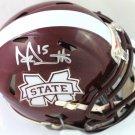 Dak Prescott Autographed Signed Mississippi State Mini Helmet BECKETT