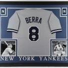 Yogi Berra Signed Autographed Framed New York Yankees Jersey JSA