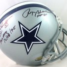 Roger Staubach & Drew Pearson Signed Autographed Dallas Cowboys Helmet BECKETT