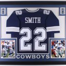 Emmitt Smith Autographed Signed Framed Dallas Cowboys Jersey BECKETT