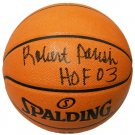Robert Parish Celtics Signed Autographed Spalding NBA Basketball SCHWARTZ