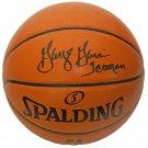 George Gervin Spurs Signed Autographed Spalding NBA Basketball SCHWARTZ