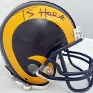 Torry Holt Autographed Signed St. Louis Rams Mini Helmet BECKETT
