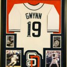 Tony Gwynn Autographed Signed Framed San Diego Padres Jersey COA