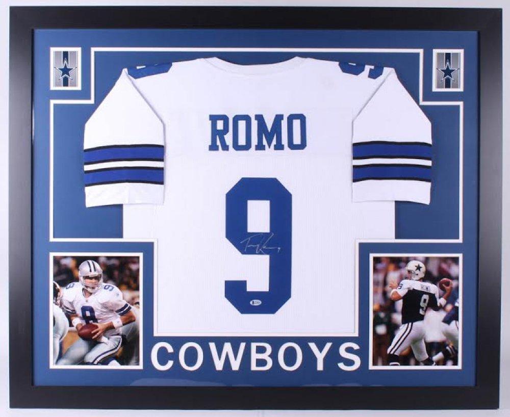 Tony Romo Autographed Signed Framed Dallas Cowboys Jersey BECKETT