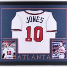 Chipper Jones Autographed Signed Framed Atlanta Braves Jersey BECKETT