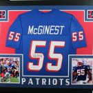Willie McGinest Autographed Signed Framed New England Patriots Jersey BECKETT