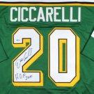 Dino Ciccarelli Autographed Signed Minnesota North Stars Jersey JSA