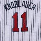 Chuck Knoblauch Autographed Signed Minnesota Twins Jersey LEAF COA