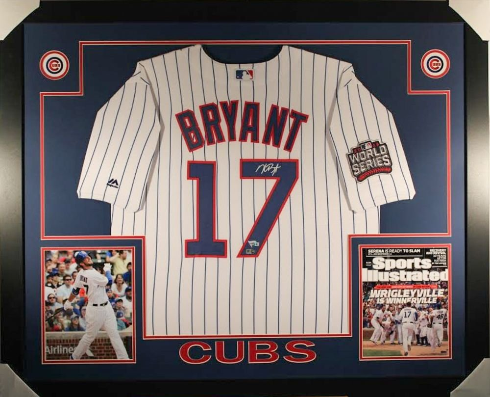 Kris Bryant Autographed Signed Framed Chicago Cubs Jersey FANATICS
