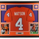 Deshaun Watson Autographed Signed Framed Clemson Tigers Jersey JSA
