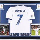 Cristiano Ronaldo Autographed Signed Framed Real Madrid Jersey BECKETT
