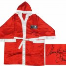 Thomas Hearns Autographed Signed Title Boxing Robe SCHWARTZ