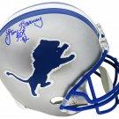 Lem Barney Signed Autographed Detroit Lions FS Helmet SCHWARTZ