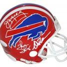 Kelly Reed & Thomas Autographed Signed Buffalo Bills Mini Helmet JSA