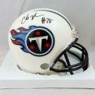 Chris Johnson Signed Autographed Tennessee Titans Mini Helmet BECKETT