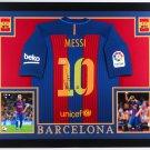 Lionel Leo Messi Autographed Signed Framed Barcelona Jersey BECKETT