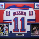 Mark Messier Autographed Signed Framed New York Rangers Jersey STEINER