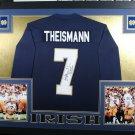 Joe Theismann Autographed Signed Framed Notre Dame Jersey JSA