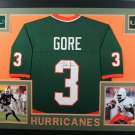 Frank Gore Autographed Signed Framed Miami Hurricanes Jersey JSA