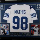 Robert Mathis Autographed Signed Framed Indianapolis Colts Jersey JSA