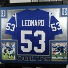 Darius Leonard Autographed Signed Framed Indianapolis Colts Jersey JSA