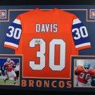 Terrell Davis Autographed Signed Framed Denver Broncos Jersey JSA