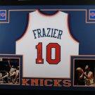 Walt Frazier Autographed Signed Framed New York Knicks Jersey JSA