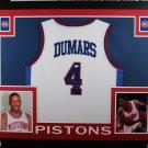 Joe Dumars Autographed Signed Framed Detroit Pistons Jersey JSA