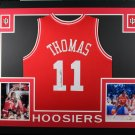 Isiah Thomas Autographed Signed Framed Indiana Hoosiers Jersey JSA