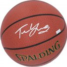 Trae Young Hawks Autographed Signed Spalding Basketball FANATICS