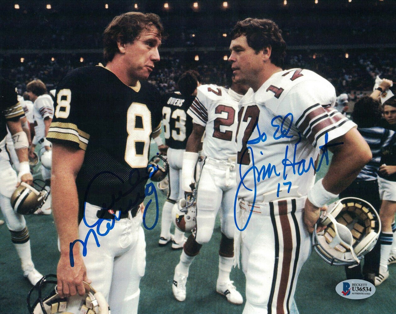 Archie Manning & Jim Hart Autographed Signed 8x10 Photo BECKETT