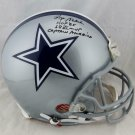 Roger Staubach Signed Autographed Dallas Cowboys FS Proline Helmet JSA
