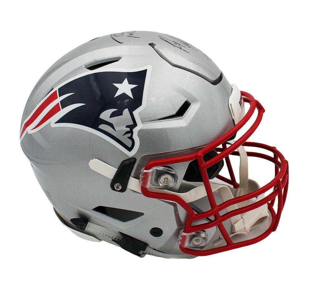 Tom Brady & Rob Gronkowski Autographed Signed New England Patriots Proline Speed Helmet FANATICS