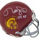 Matt Leinart Signed Autographed USC Trojans Mini Helmet SCHWARTZ