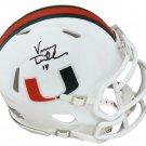 Vinny Testaverde Signed Autographed Miami Hurricanes Mini Helmet SCHWARTZ