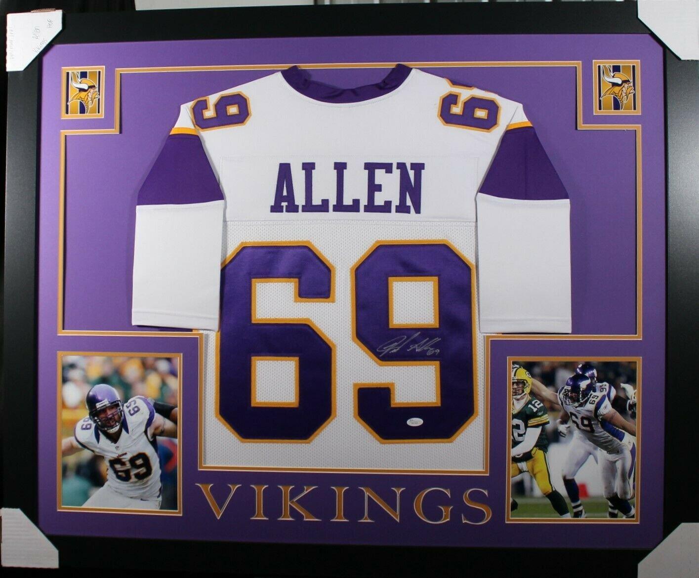 Jared Allen Autographed Signed Framed Minnesota Vikings Jersey JSA