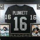 Jim Plunkett Autographed Signed Framed Oakland Raiders Jersey JSA