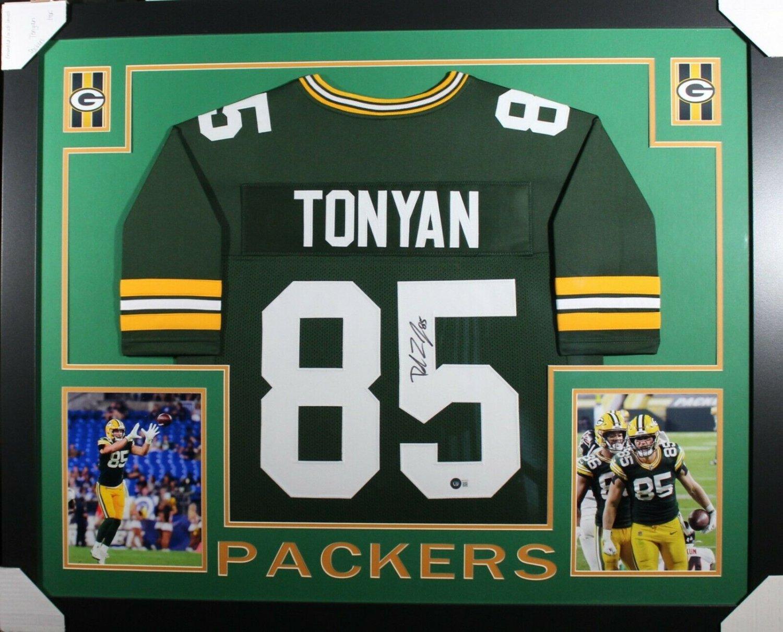 Robert Tonyan Autographed Signed Framed Green Bay Packers Jersey BECKETT