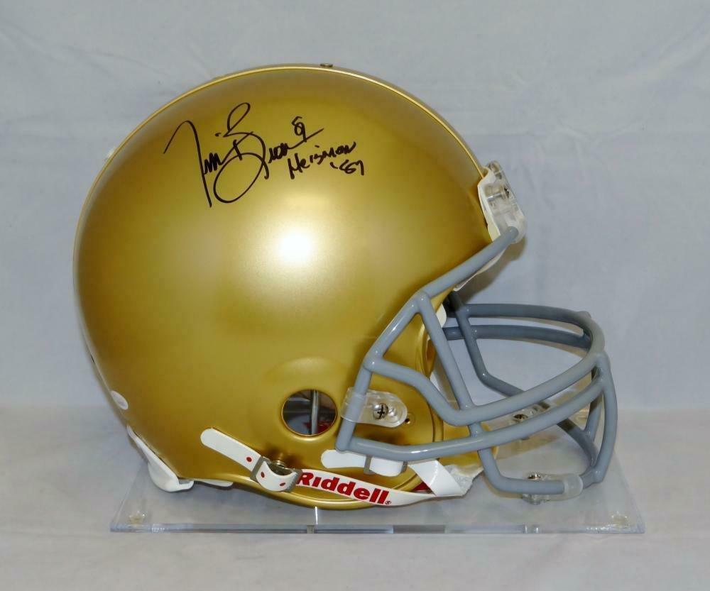 Tim Brown Signed Autographed Notre Dame Fighting Irish Proline Helmet JSA